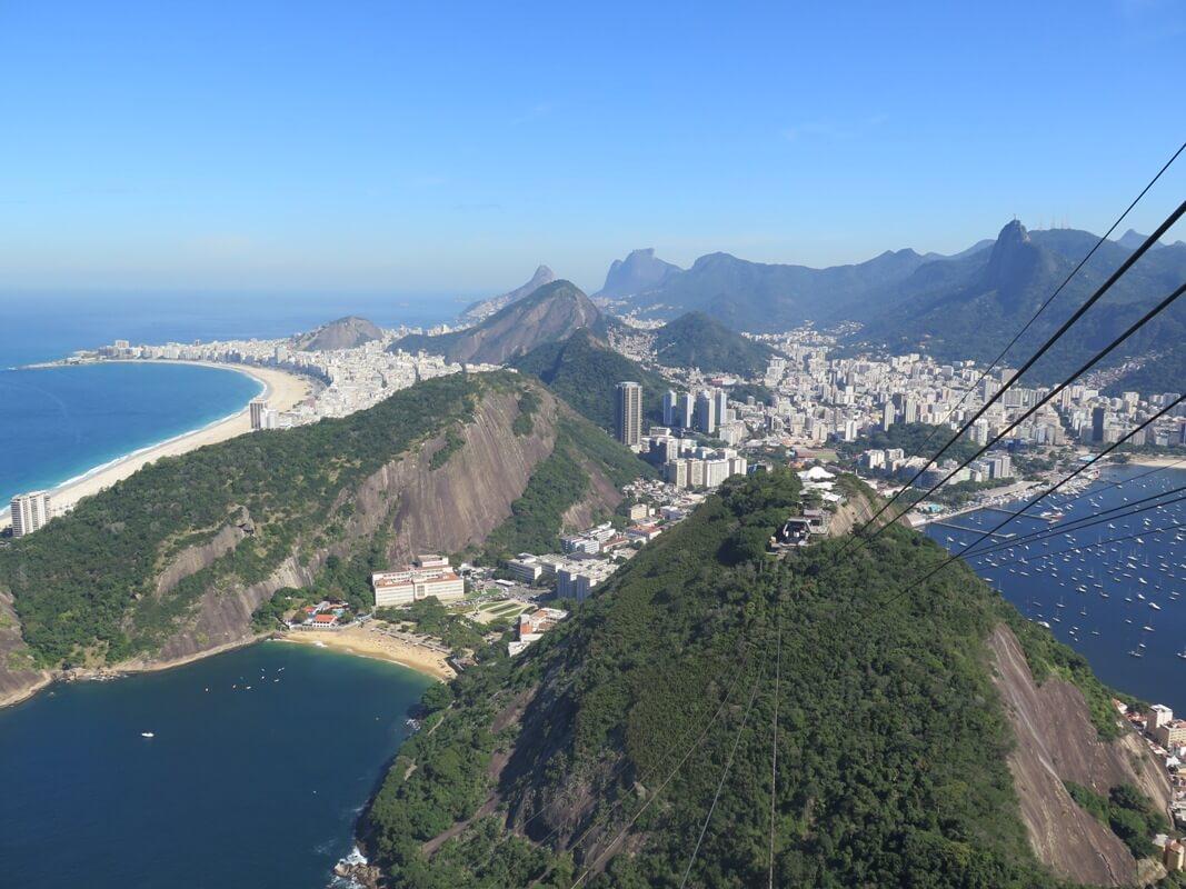 Vista de Praia Vermelha y Copacabana desde Pao de Acucar