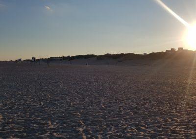 Atardecer en la playa Mar Azul