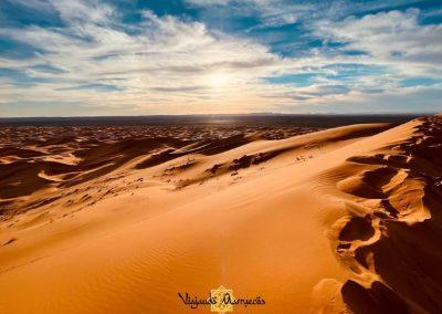 Campamento en el Desierto de Sahara - Marruecos atardecer