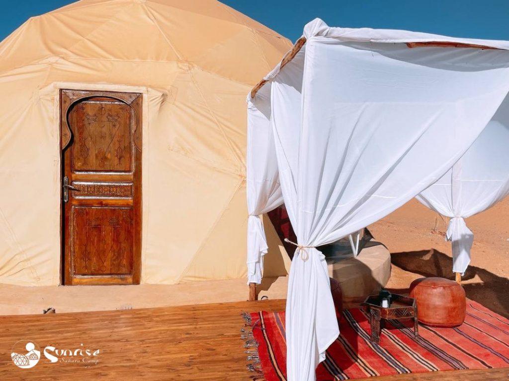 Campamento en el Desierto de Sahara - Marruecos Tiendas