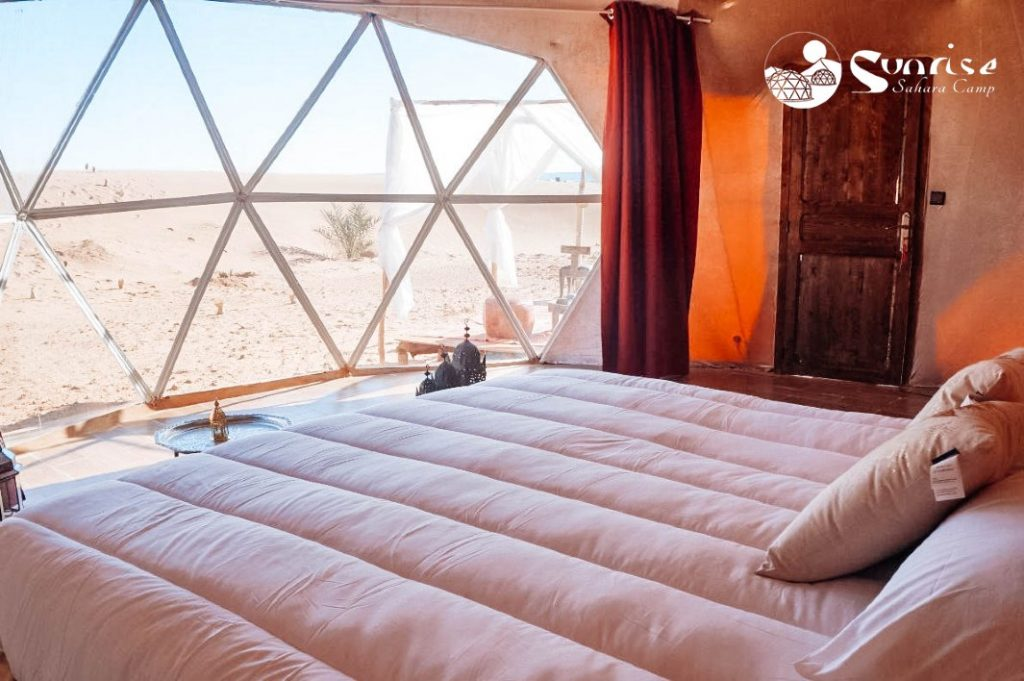 Campamento en el Desierto de Sahara - Marruecos Amanecer